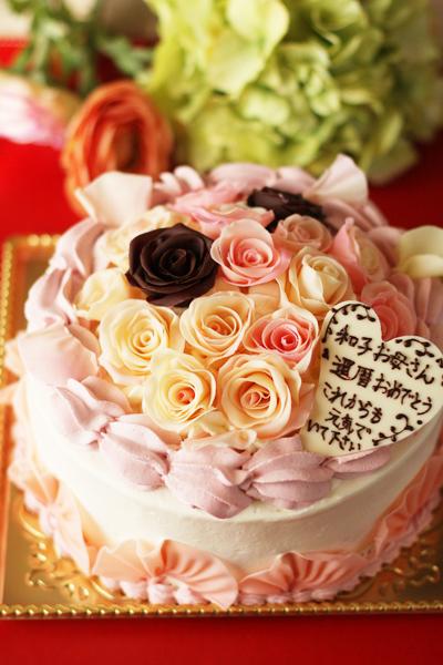 還暦お祝いのケーキ_f0149855_15473290.jpg