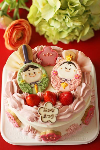 おひなさまのケーキ_f0149855_1631152.jpg
