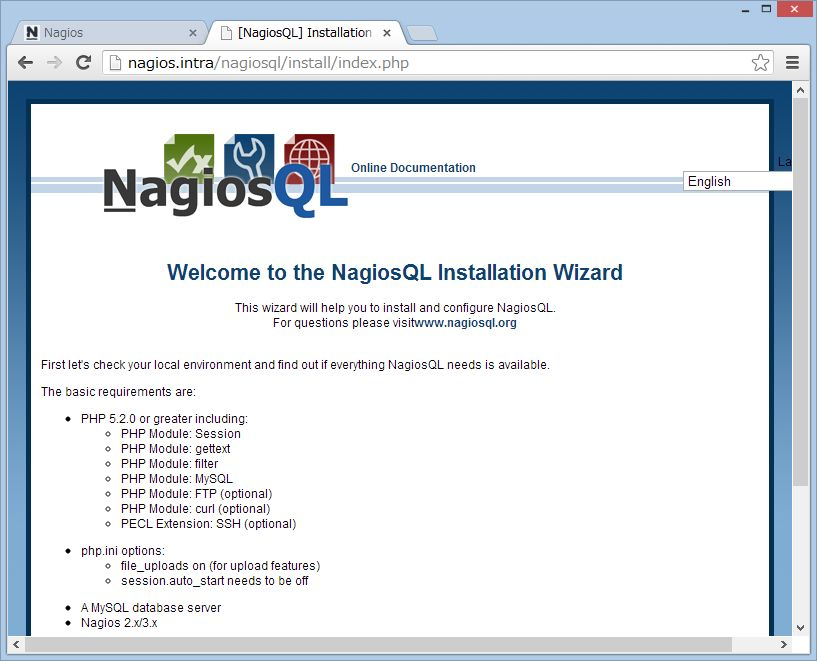 nagiosQL を SUSE Linux にインストール_a0056607_14155824.jpg