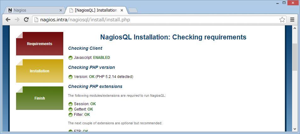nagiosQL を SUSE Linux にインストール_a0056607_142844.jpg