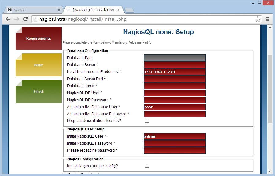nagiosQL を SUSE Linux にインストール_a0056607_15105590.jpg