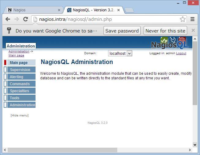 nagiosQL を SUSE Linux にインストール_a0056607_168282.jpg