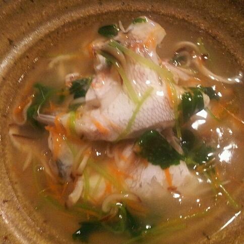 鯛の兜沢煮仕立て~柚子胡椒風味~♪_b0252508_1718541.jpg