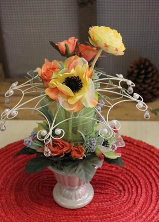 二月のレッスン グレースフラワー(光触媒の造花)_d0227610_17442690.jpg