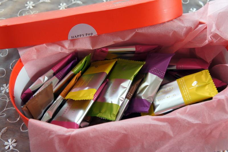 焼き菓子 ショコラ・カシスの試作・・♡ と かわいいハッピーターン_d0210450_16552033.jpg