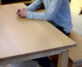 ナラのテーブル+ベンチ_f0171785_1617459.jpg