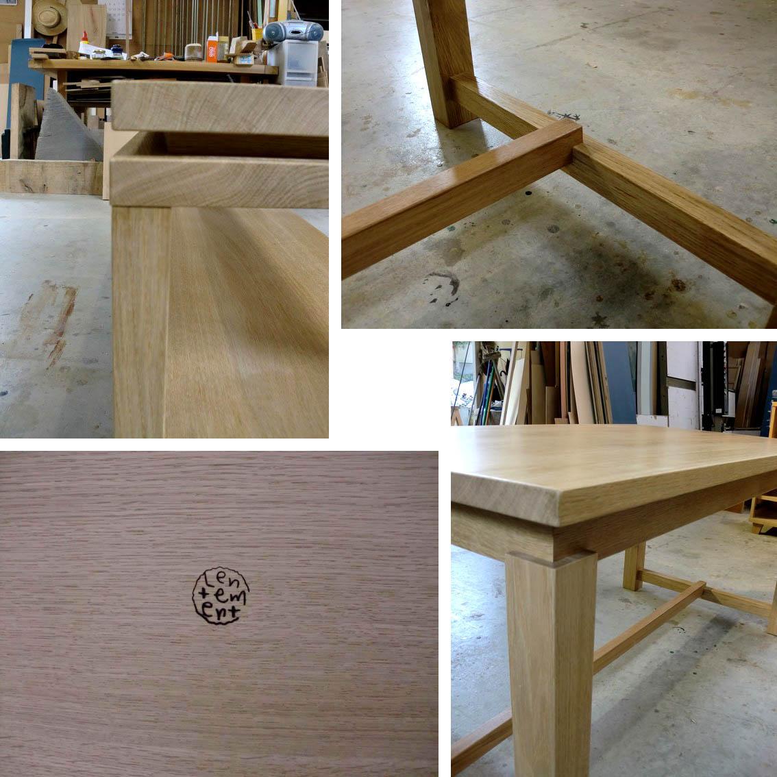 ナラのテーブル+ベンチ_f0171785_161857.jpg