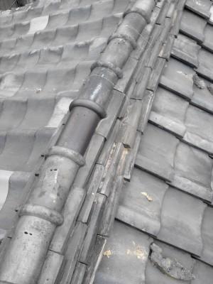 板橋区赤塚 軒先瓦のずれ落ち_c0223192_215575.jpg