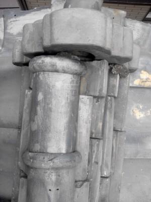板橋区赤塚 軒先瓦のずれ落ち_c0223192_2165756.jpg