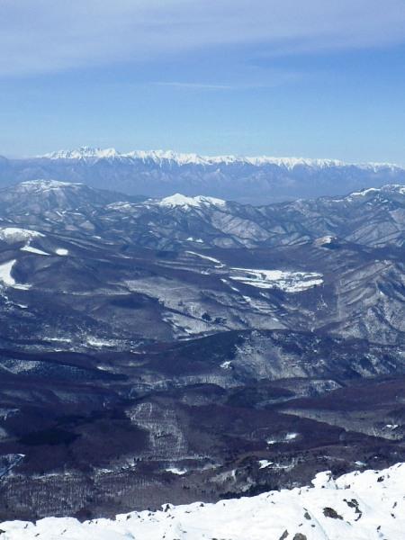 蓼科山の山頂から_c0177814_21394836.jpg