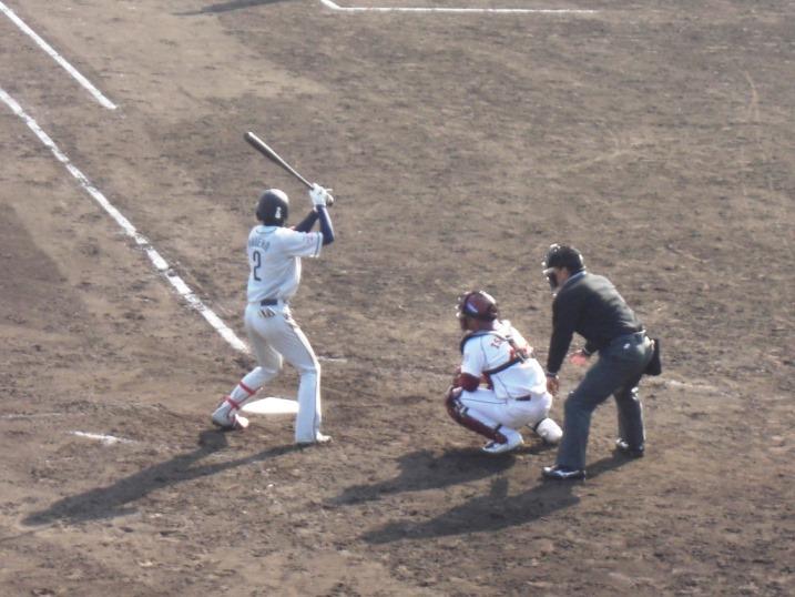 小春日和の野球観戦_b0081121_19121421.jpg