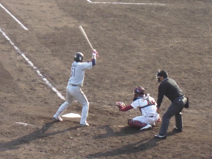 小春日和の野球観戦_b0081121_19132030.jpg
