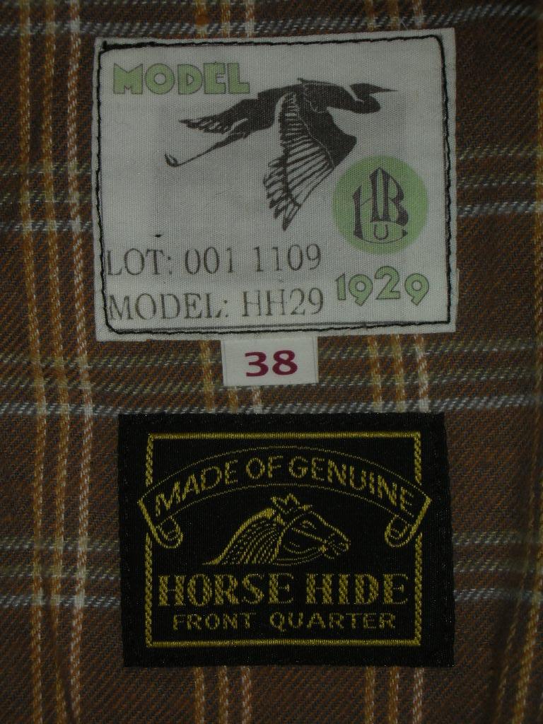 HIMEL BROTHERS LEATHER HERON 1929 BLACK HORSEHIDE _c0187684_054168.jpg