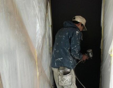「(仮)流山の3階建て」壁に黒板の塗料を施しました_f0170331_1511571.jpg