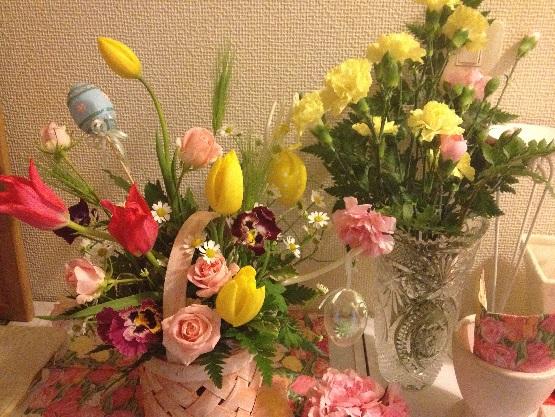 久しぶりにお花のレッスン_b0207536_20264018.jpg