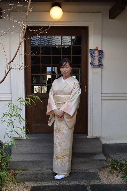 糸目友禅の訪問着を纏い、卒業式へ_d0230676_9455935.jpg