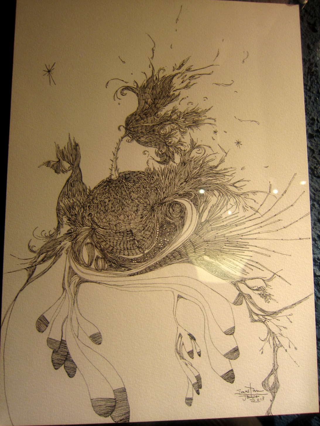 1964)「内山睦 展 『幻想植物譜』」 カフェエスキス 2月14日(木)~3月12日(火)_f0126829_8221946.jpg