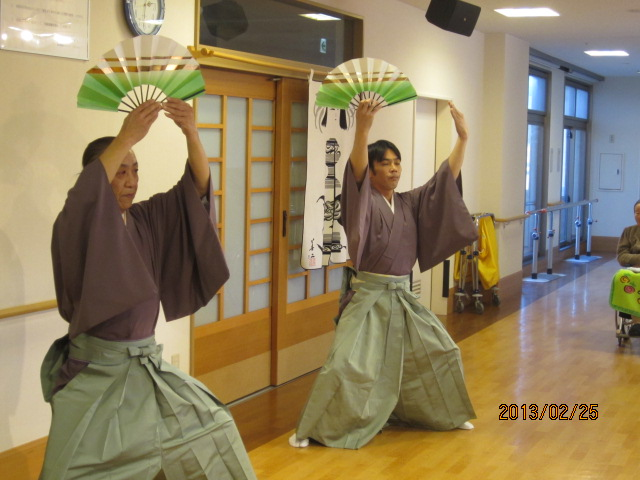 日本舞踊のボランティアが来苑されました。_e0191174_1719845.jpg