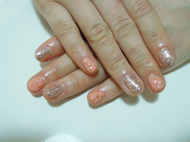 Coral Pink Nail_a0239065_16355833.jpg
