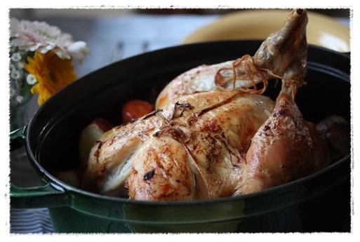 長男お誕生日ディナー。丸鶏ローストチキン_b0165178_16234367.jpg