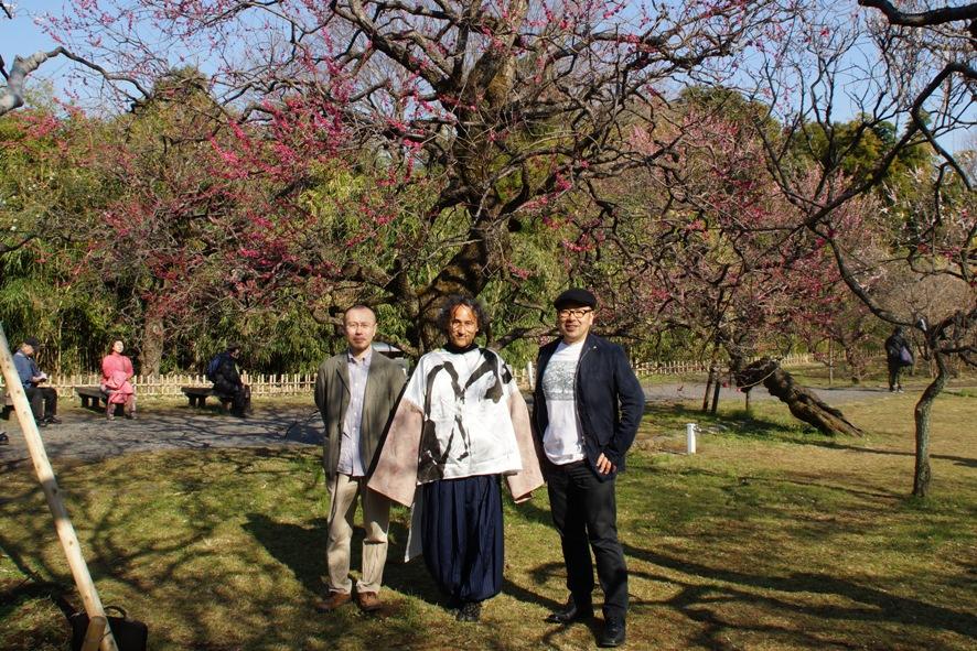 「詩と思想」で対談した久米繊維の久米信行会長・詩人長谷川忍さんと神代植物公園~深大寺散策/3月の詩UP_f0006713_2026274.jpg