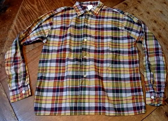 60'S マドラスチェック ボックスシャツ!_c0144020_14464818.jpg