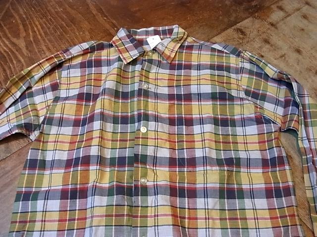 60'S マドラスチェック ボックスシャツ!_c0144020_14465772.jpg