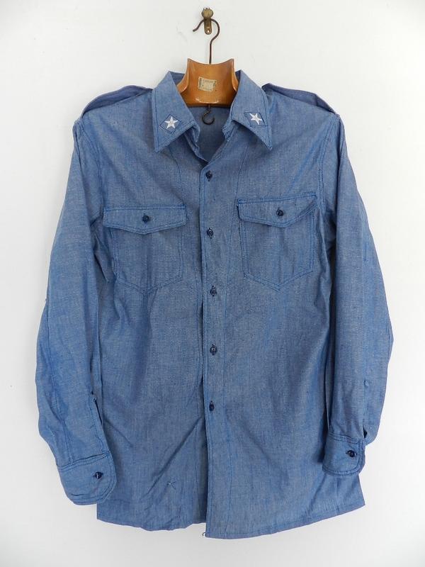 Italian army chambray shirts dead stock_f0226051_12361196.jpg