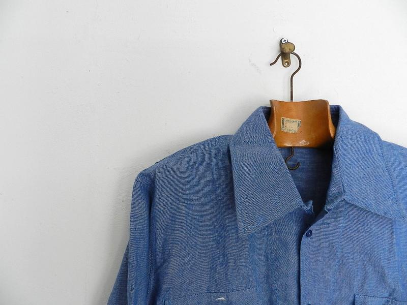 Italian army chambray shirts dead stock_f0226051_1238502.jpg