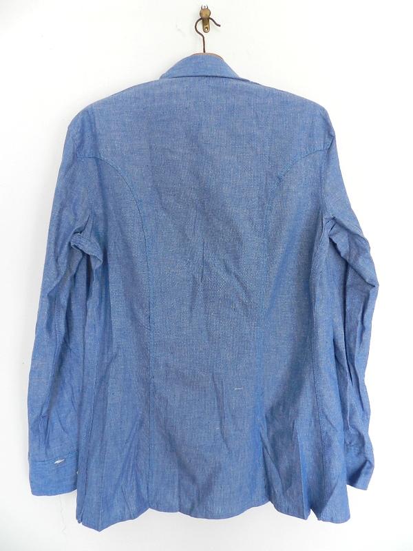 Italian army chambray shirts dead stock_f0226051_12392724.jpg