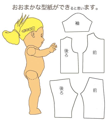 ミルク飲み人形の洋服