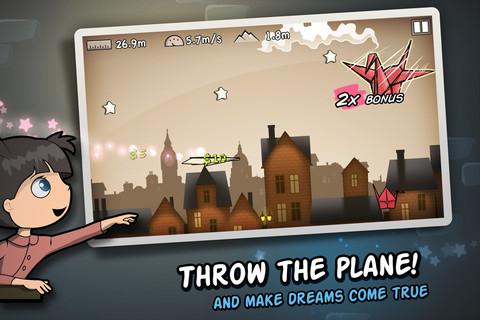 無料セール中!紙飛行機を飛ばすアクションiPhoneアプリ「Flight!」_d0174998_13473024.jpg