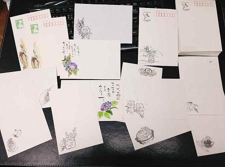 /// 二十四節季の清明のお礼状「菜の花」を画きました ///_f0112434_23261990.jpg