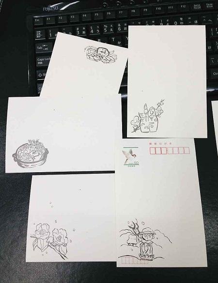 /// 二十四節季の清明のお礼状「菜の花」を画きました ///_f0112434_23273042.jpg