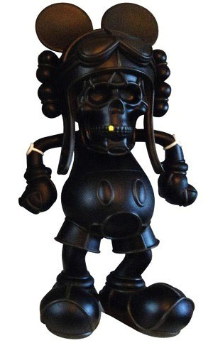 Deathead Mickey: Black on Black  by David Flores_e0118156_16233585.jpg