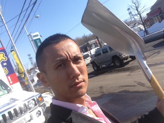 トミーモータース 掃き掃除 歩道工事_b0127002_16572657.jpg