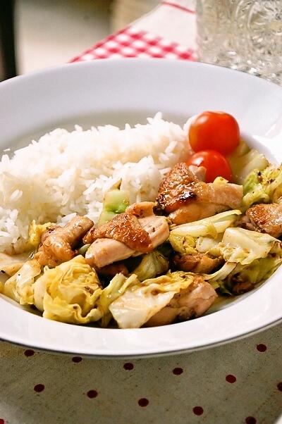 材料4つで!鶏とキャベツのポン粒マスタード炒め☆_d0104926_7334087.jpg