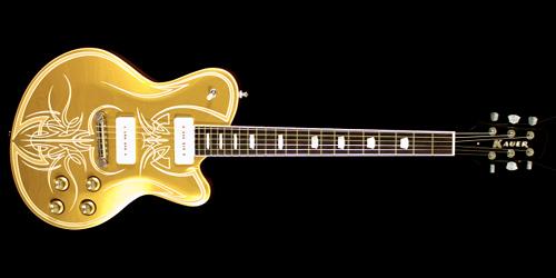 Pinstripeが描かれた「Kauer GuitarsのStarliner」。_e0053731_18203229.jpg