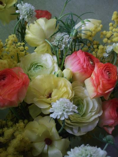 オークリーフ(ミモザを入れた花束)_f0049672_1714435.jpg