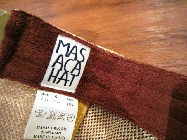 """帽子ブランド \""""MASACA HAT\"""" ご紹介_f0191324_938389.jpg"""