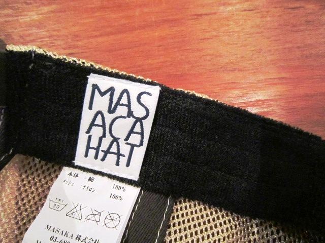 """帽子ブランド \""""MASACA HAT\"""" ご紹介_f0191324_9384147.jpg"""