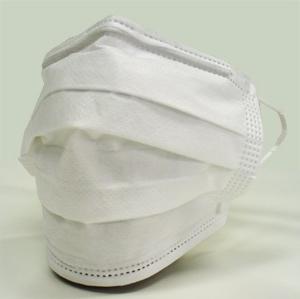 鼻の部分を押さえ顎までマスクを伸ばし、全体を手で覆って隙間をなくすように... 有料自習室 スタ