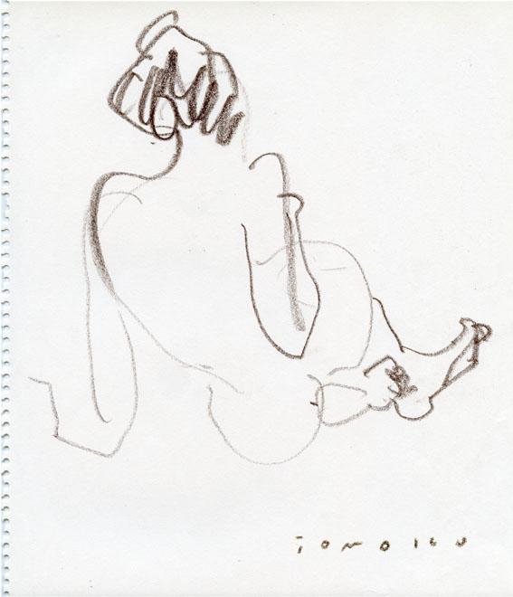 裸体クロッキー_c0186612_12124654.jpg