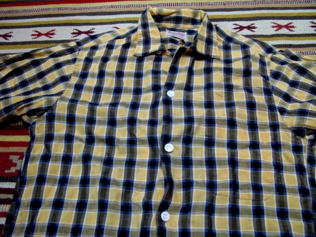 60\'S コットンシャツ ボックス オープンカラー オールコットン!_c0144020_22161140.jpg
