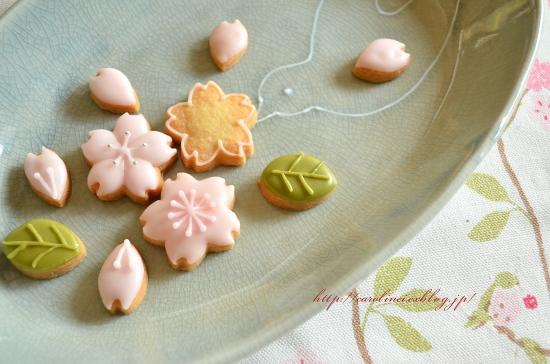 さくらクッキー cherry blossom cookies_d0025294_22313188.jpg