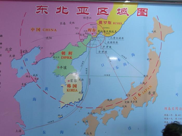 中朝第2の国境、圏河・元汀里は中国車がいっぱい_b0235153_15421438.jpg
