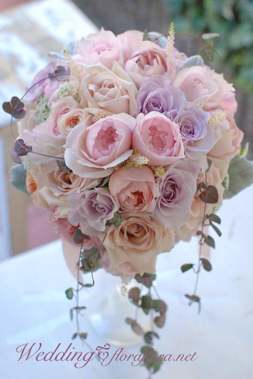 ニュアンスカラーのバラ達とハートカズラのセミキャスケードブーケ to FISH BANK TOKYO様_a0115684_23571697.jpg