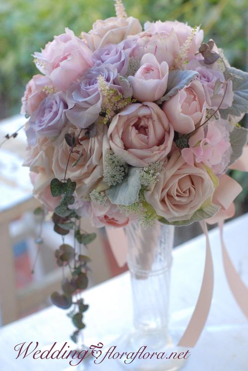 ニュアンスカラーのバラ達とハートカズラのセミキャスケードブーケ to FISH BANK TOKYO様_a0115684_2358229.jpg