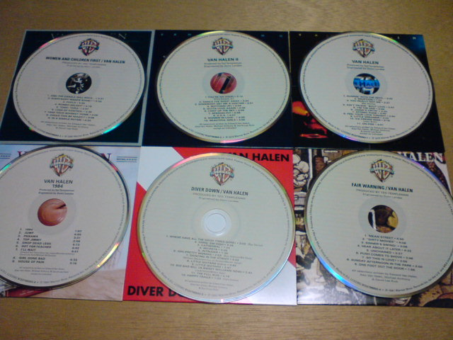 本日到着CD  〜 The Studio Albums 1978-1984 / Van Halen_c0104445_2058726.jpg