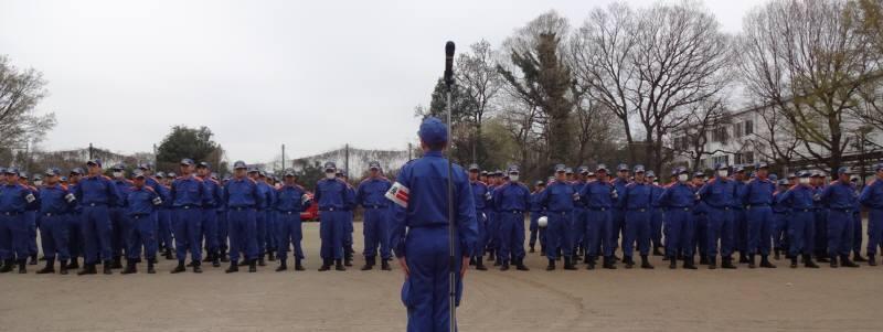 小平市消防団規律・救助訓練_f0059673_203413100.jpg